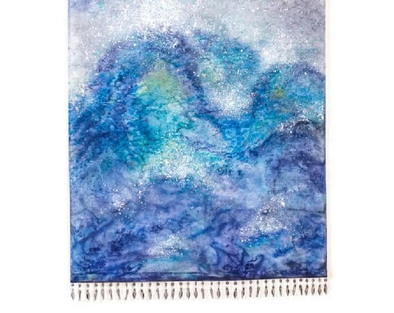 Ocean Painting-Wall Hanging Tapestry-Wave Art-Ocean Decor-Nature Tapestry-Textile Art-Fiber Art-Coastal Decor-Beach Decor-Boho Decor