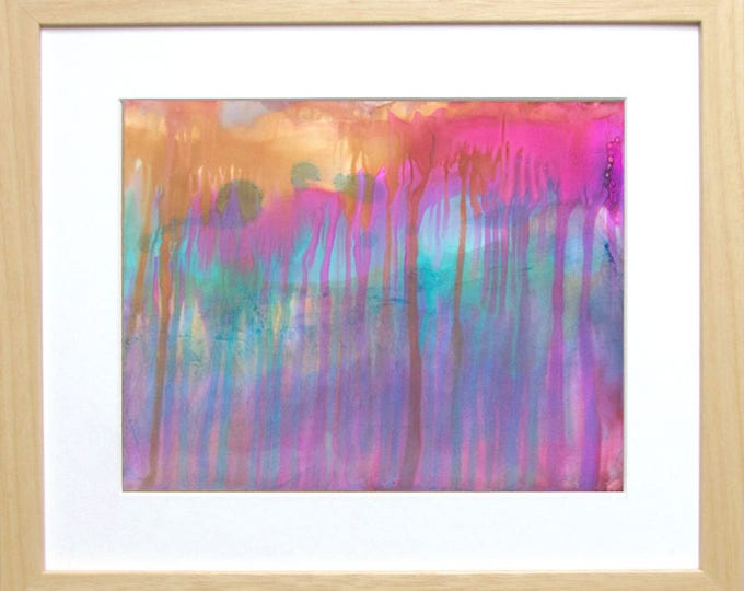 Fuchsia Art-Colorful Abstract Painting-Colorful Wall Art-Alcohol Ink Painting-Drip Art-Home Decor Gifts-Gift for Her-Watercolor Home Decor