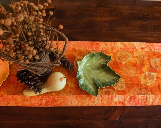 Fall Decor-Thanksgiving Table Decor-Gold Table Runner-Burnt Orange Decor-Table Linens-Centerpiece for Table-Metallic Gold-Home Decor Gifts