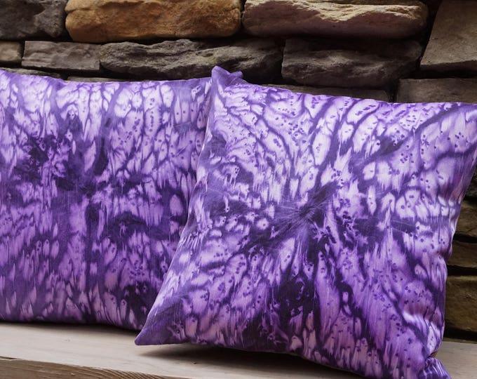 Deep Purple Pillows-Tie Dye Pillow-Boho Decor-Bohemian Decor-Hippie Decor-Teen Girl Decor-Throw Pillow-Home Decor Gift-Watercolor Home Decor