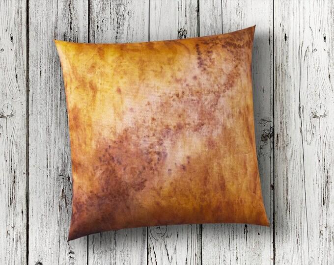 Tan Pillow Cover 18x18-Autumn Pillows-Fall Decor-Bohemian Pillow-Boho Decor-Rustic Decor-Lodge Decor-Home Decor Gifts-Watercolor Home Decor