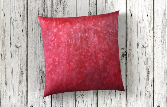 Red Pillows 18x18-Watercolor Silk Pillow-Christmas Pillows-Red Decor-Bohemian Decor-Red Boho Pillow-Home Decor Gifts-Watercolor Home Decor
