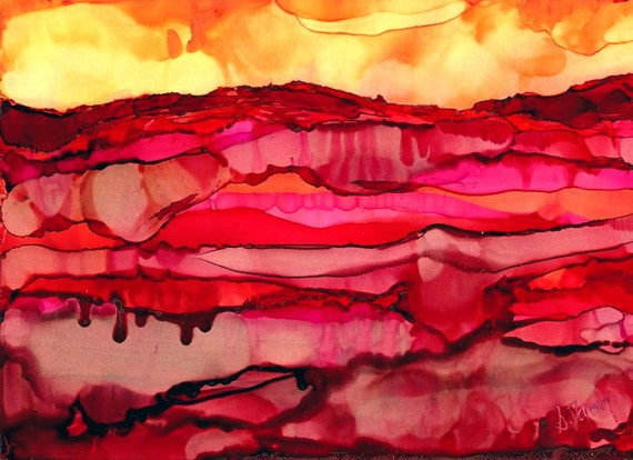 Desert Art- Southwestern Decor-Mountain Art-Western Decor-Landscape Wall Art-Modern Art-Home Decor Gifts-Alcohol Ink-Watercolor Home Decor