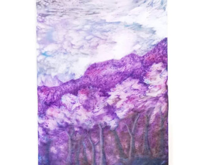 Flowering Trees Tapestry-Watercolor Tapestry-Lavender Decor-Mystical Decor-Wall Hanging-Cottage Decor-Home Decor Gifts-Watercolor Home Decor