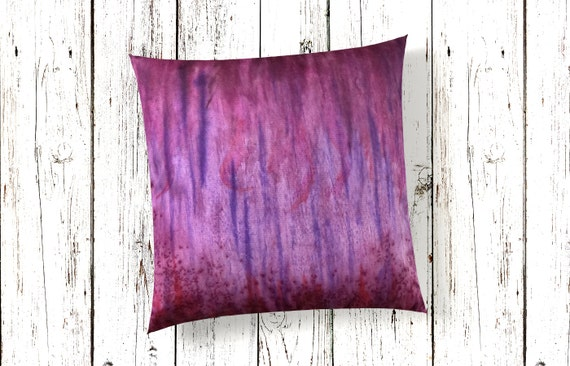 Purple Pillow 18x18-Watercolor Silk Pillow Cover-Lilac Decor-Boho Decor-Bohemian Decor-Home Decor Gifts-Gift for Mom-Watercolor Home Decor