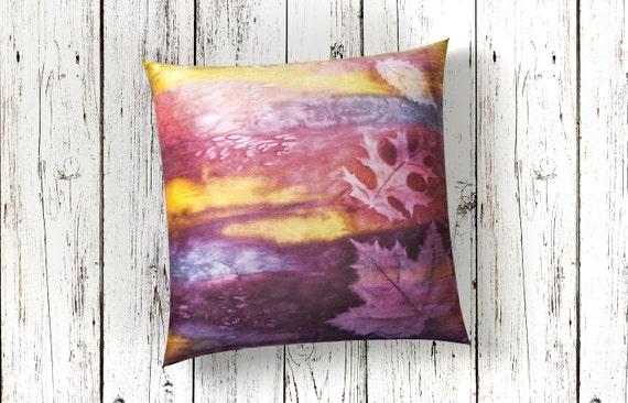 Fall Pillow-Autumn Decor-Fall Decorations-Fall Leaves-Lodge Decor-Rustic Decor-Cabin Decor-Nature Art-Home Decor Gifts-Watercolor Home Decor