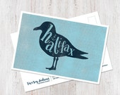 Halifax Nova Scotia illustrated Seagull Postcard