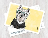 West Highland Terrier postcard