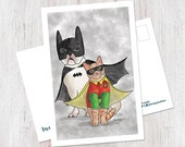 Batdog and Robcat Postcard (1 Postcard)