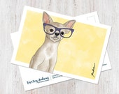 Chihuahua wearing glasses...
