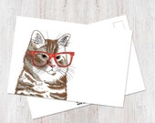 Orange Cat Postcard...