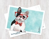Dog art, dog postcard, Fr...