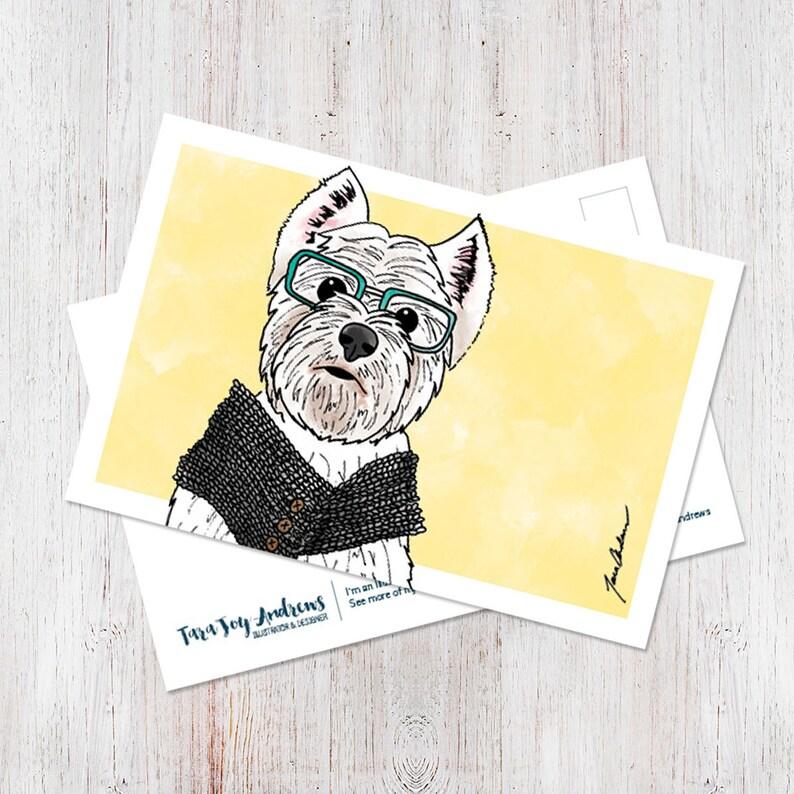 West Highland Terrier postcard image 0