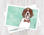 Hipster Irish Setter postcard
