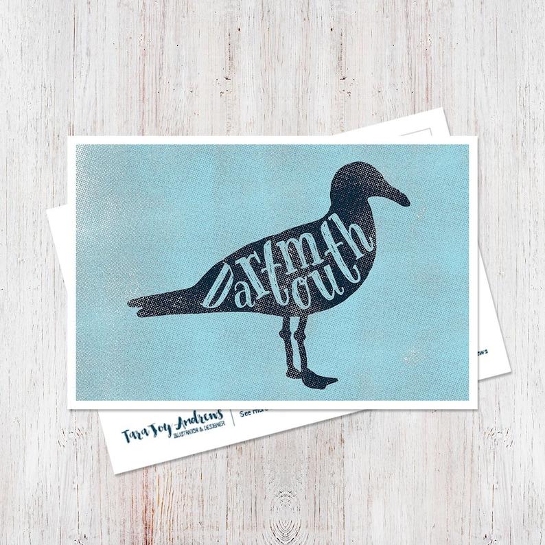 Modern typographic east coast Dartmouth Nova Scotia seagull image 0