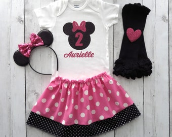 Outfits & Sets Cooperative Girls Disney Minnie Outfit 12-18 Months
