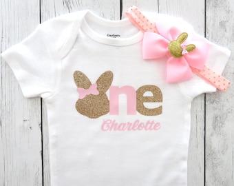 First Birthday OnesieEaster Bunny OnesieEaster BabyBunny RabbitSpring OnesieSome Bunny is OneBirthday Onesie