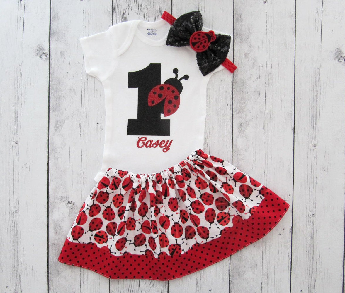 foto de Ladybug First Birthday Outfit girl 1st birthday outfit red