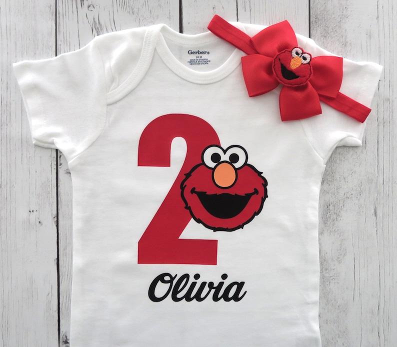 e93f4013 Elmo 2 Birthday Onesie for Girl two year old birthday elmo | Etsy