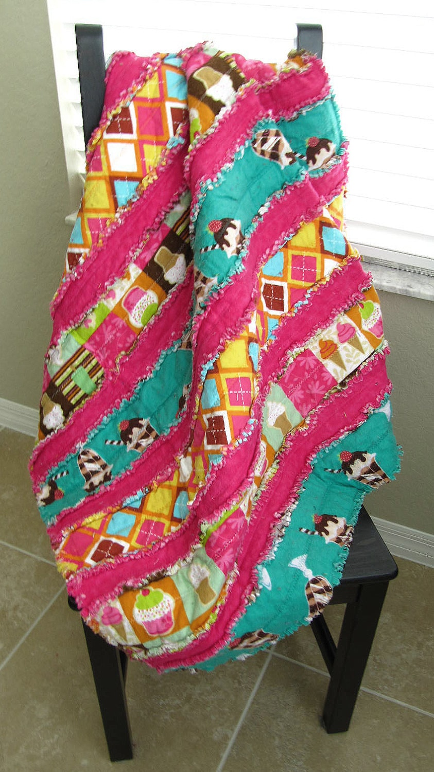 Jelly Roll Rag Quilt For Babytoddler Candy Theme Baby Etsy
