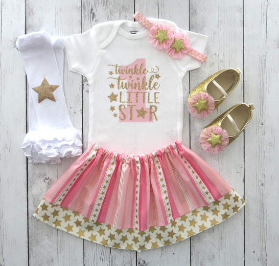 Twinkle Twinkle Little Star Baby Skirts Lovely Little Girls Soft Short Sleeve Casual Dress Outfit 2-6 Years.