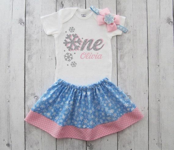Winter Onederland First Birthday Onesie Pink Or Blue
