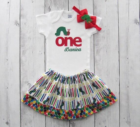 6e9445c46056 Caterpillar First Birthday Outfit for baby girl caterpillar