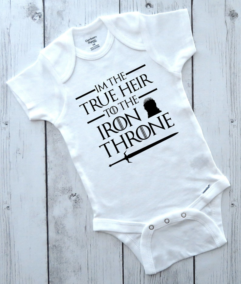 617347089137a Game Of Thrones Onesie True Heir to the Iron Throne Poop | Etsy