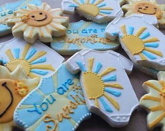 Baby Shower Sunshine Cookies