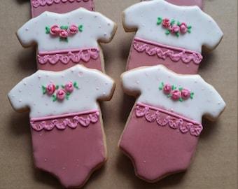 Baby Shower Cookies - Onesies - Girl -  1 Dozen (12 cookies)