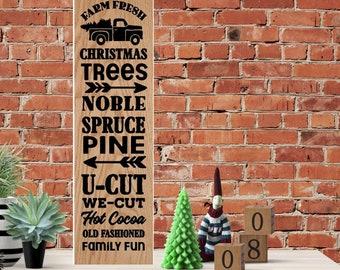 Christmas Porch Sign Vinyl
