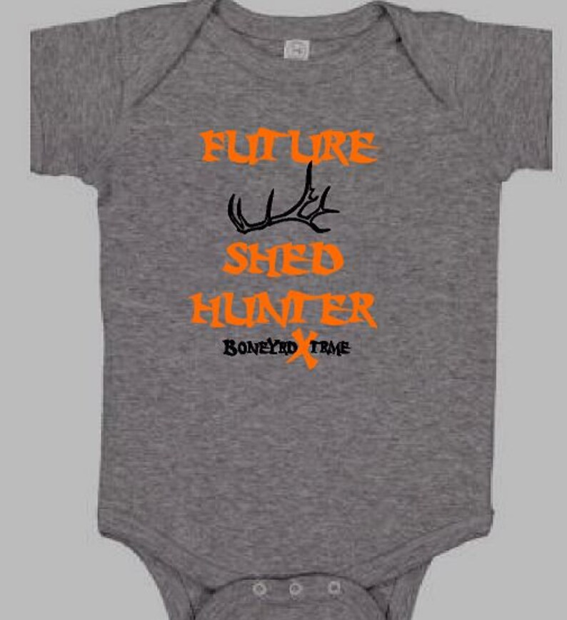 Baby Onesie  Future Shed Hunter Baby Clothes Hunting Pink Orange