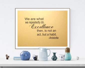 We Are What We Do -Excellence