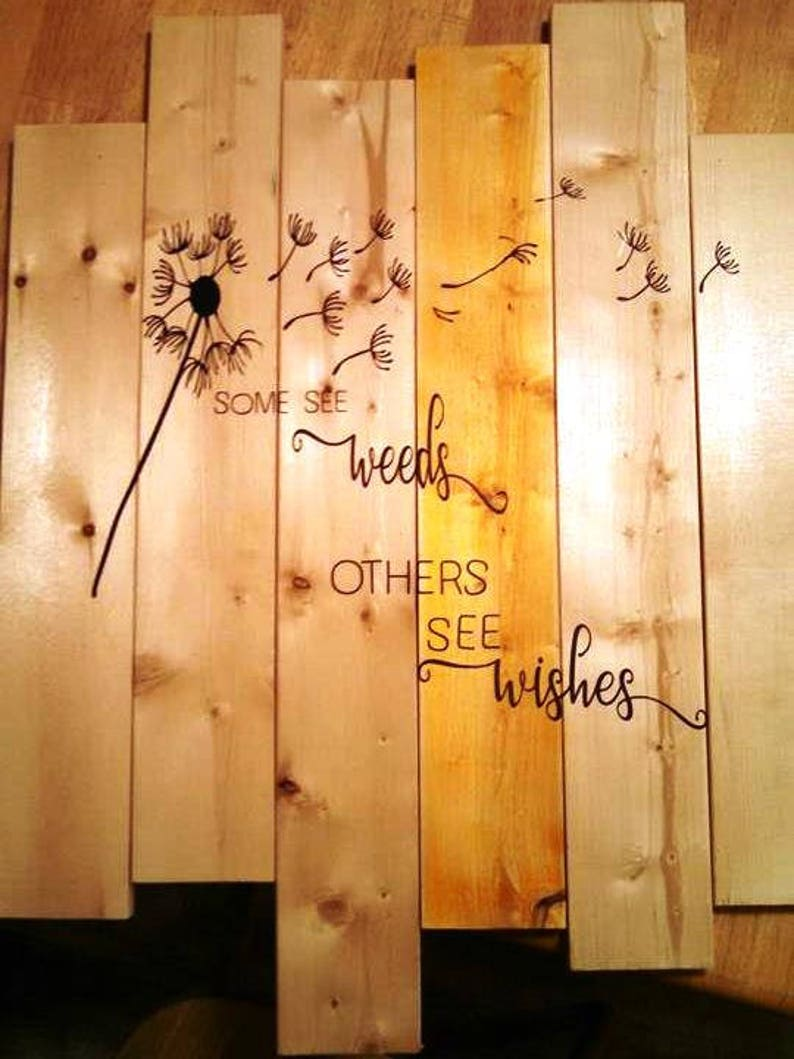Dandelion  Some See Weeds Others See Wishes vinyl decal image 0