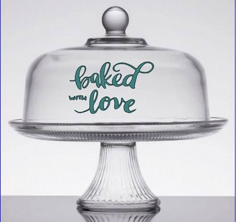 Baked With Love Vinyl Decal  Sticker  Vinyl Lettering image 0