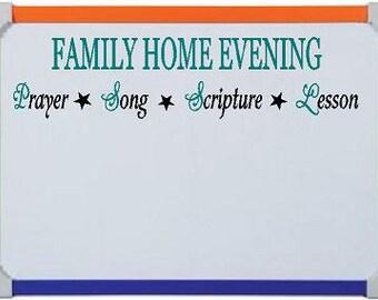 Family Home Evening - LDS Vinyl Lettering - Family Board Designs