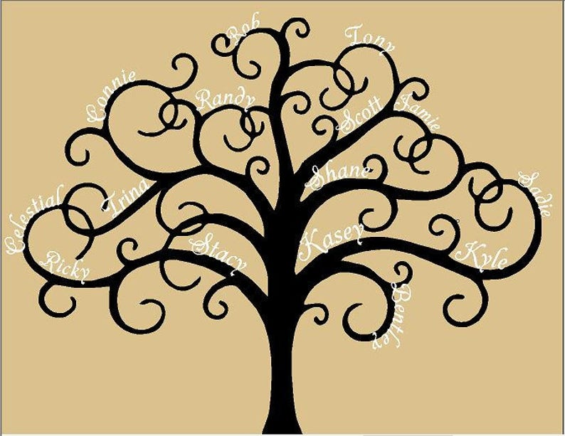 Vinyl Wall Decals  Family Tree Customize-able image 0
