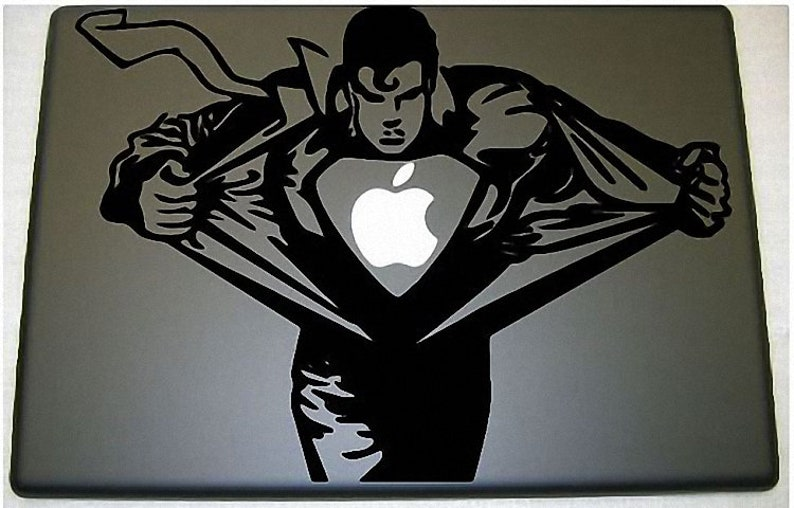 Superman  Clark Kent  Apple  Macbook vinyl decal image 0