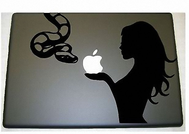 Sexy Eve Snake  Apple  Macbook vinyl decal image 0