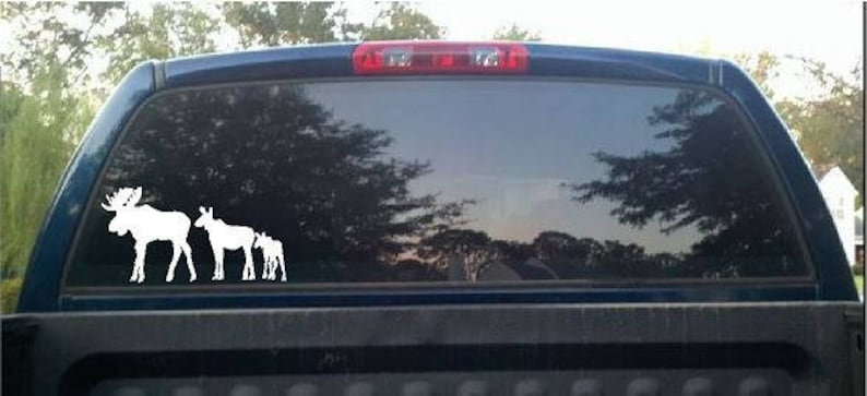 Window Decal  Moose Family image 0