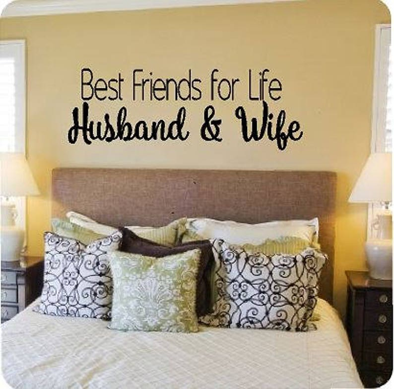 Vinyl Wall Quote  Best Friends for Life Husband & Wife image 0