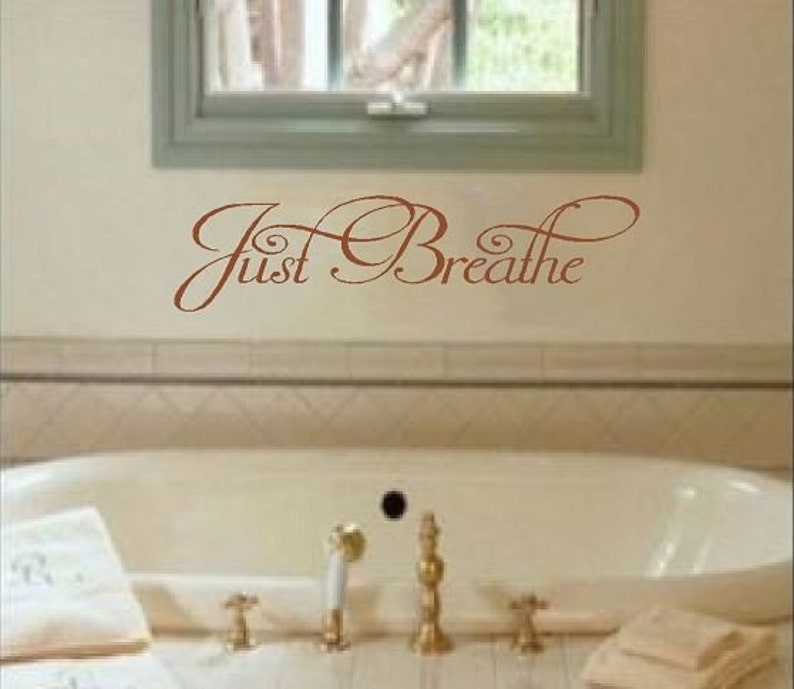 Vinyl Wall Quote  Just Breathe image 0