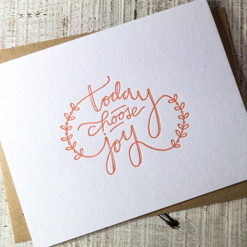 Choose Joy Letterpress Card image 0