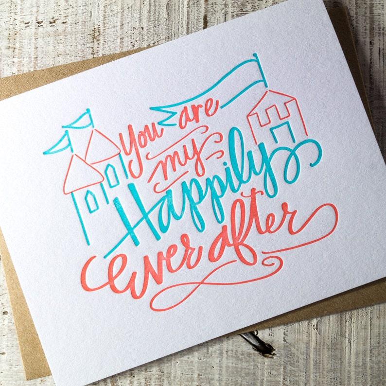 Happily Ever After Letterpress Card image 0