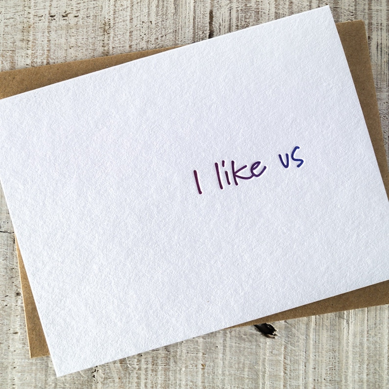 I Like Us Letterpress Card image 0