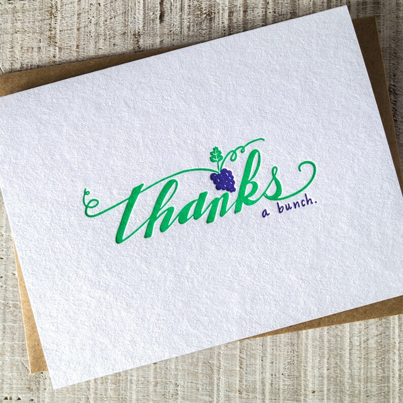Thanks a Bunch Letterpress Card image 0