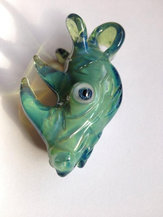 Custom Rhino head Pendant for Ray