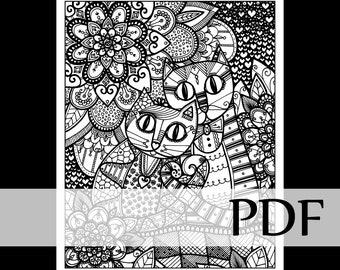 Coloriage Fleur Tps.Creations Joelle Mercier By Creationsjmercier On Etsy
