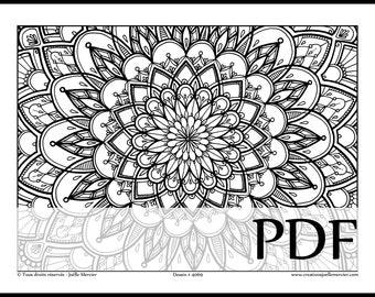 Coloriage Fleur Tps.Creations Joelle Mercier De Creationsjmercier En Etsy