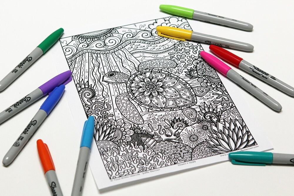 Mandala-Färbung Zeichnung 0599 gedruckt auf Karton Färbung   Etsy